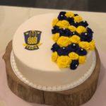 bryllupskage temakage med brøndby logo