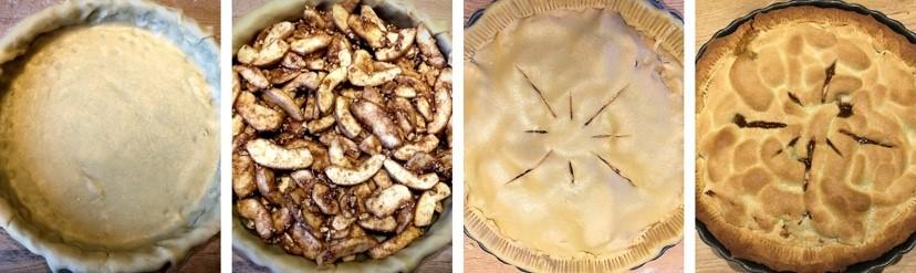 æbletærte trin for trin