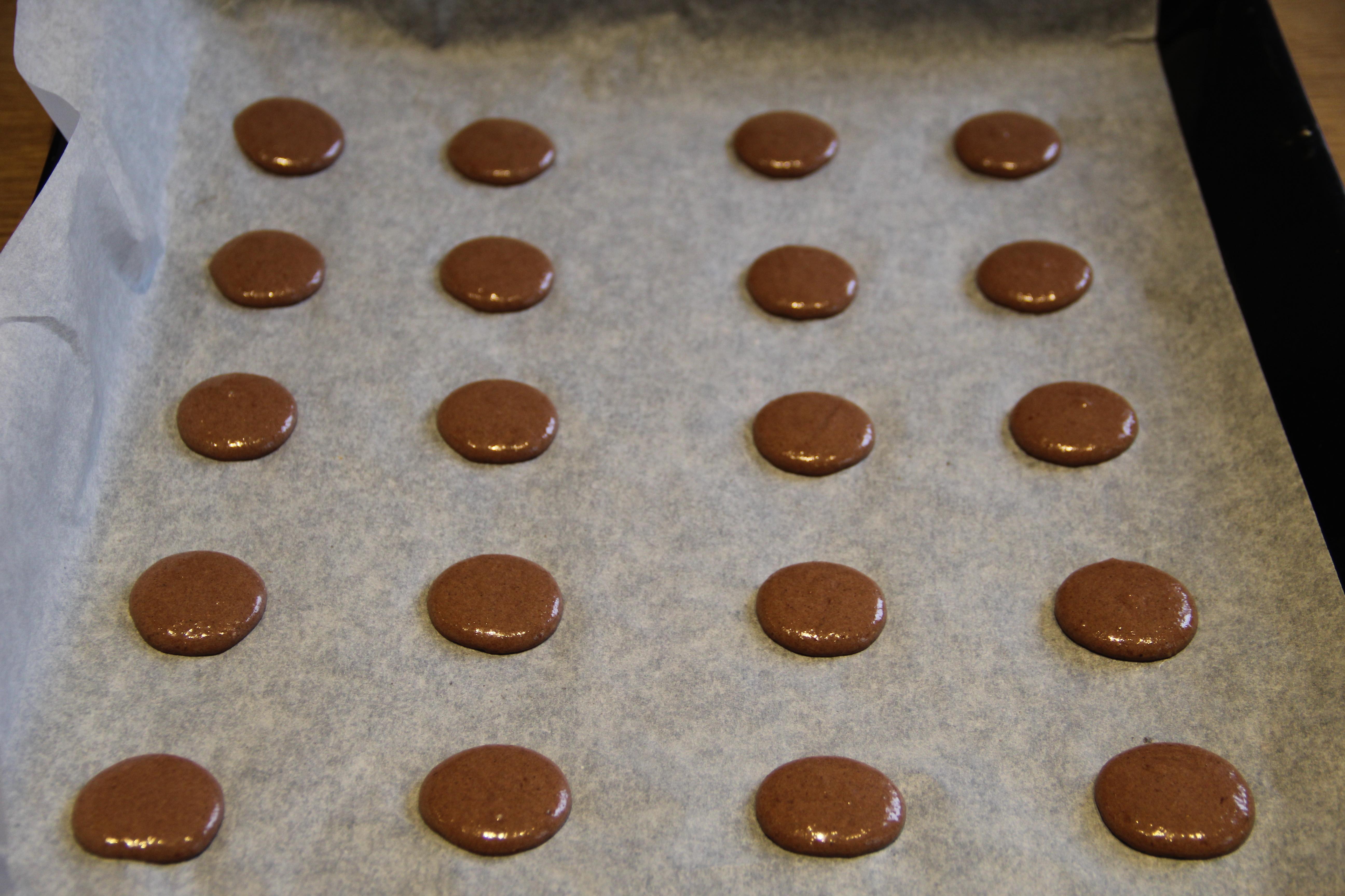 macarons med bageplade