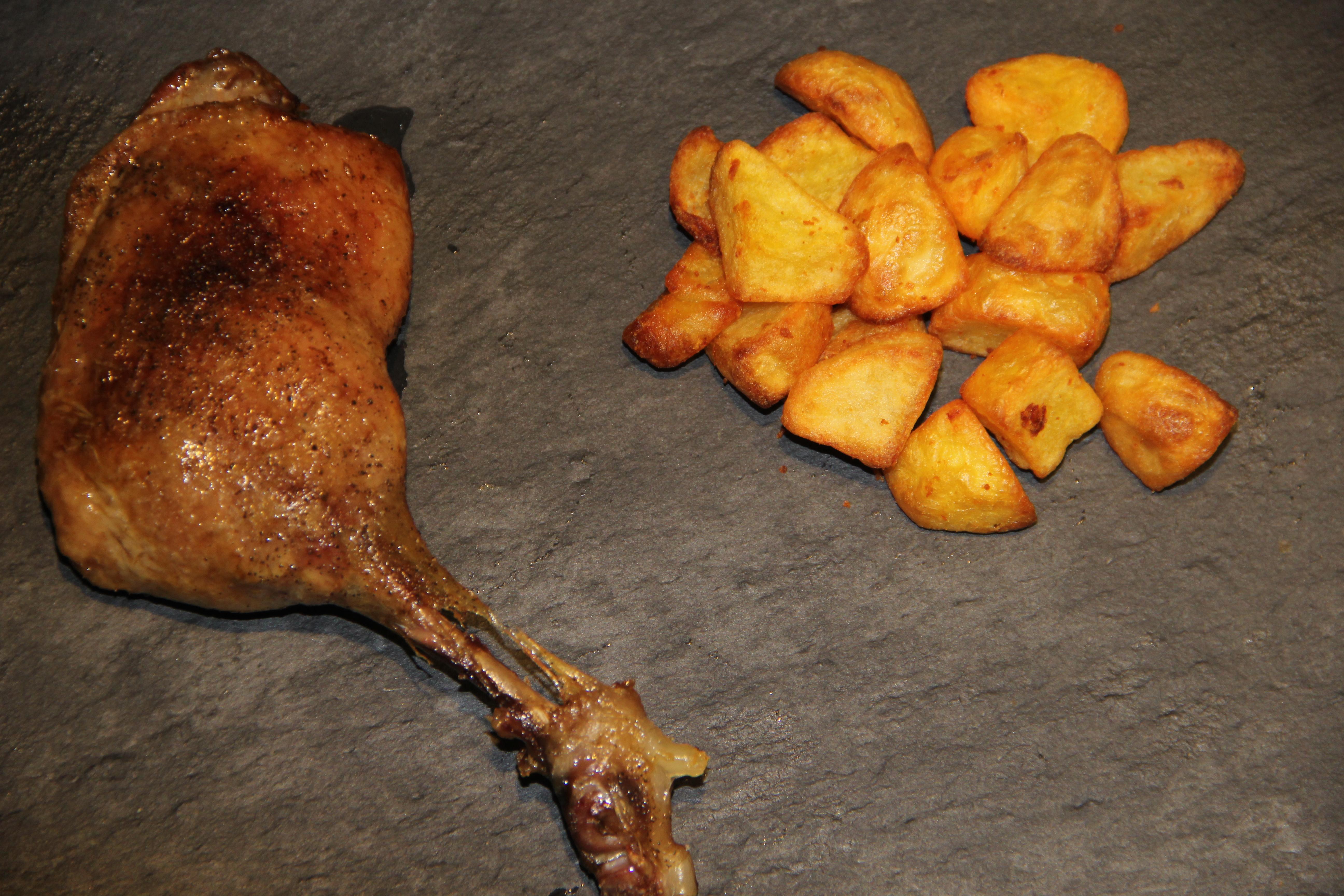 andelår og kartofler