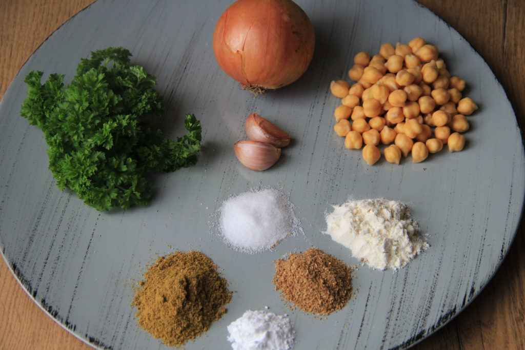 ingredienser til falafel