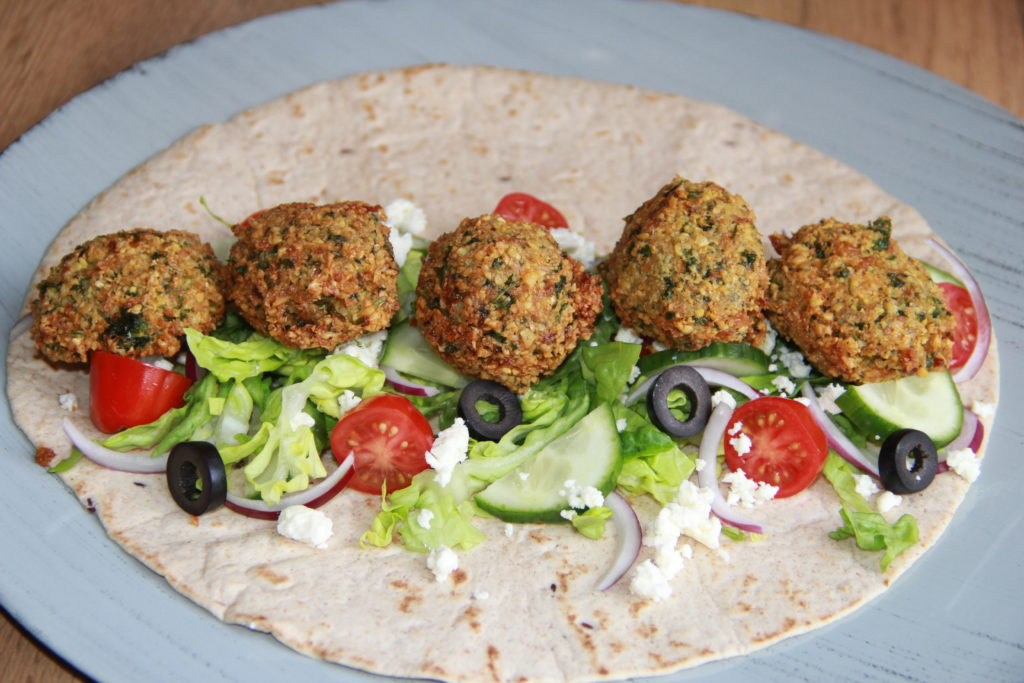 falafel i tortillas