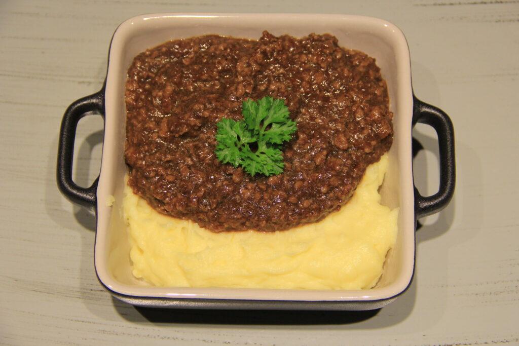 millionbøf med kartoffelmos