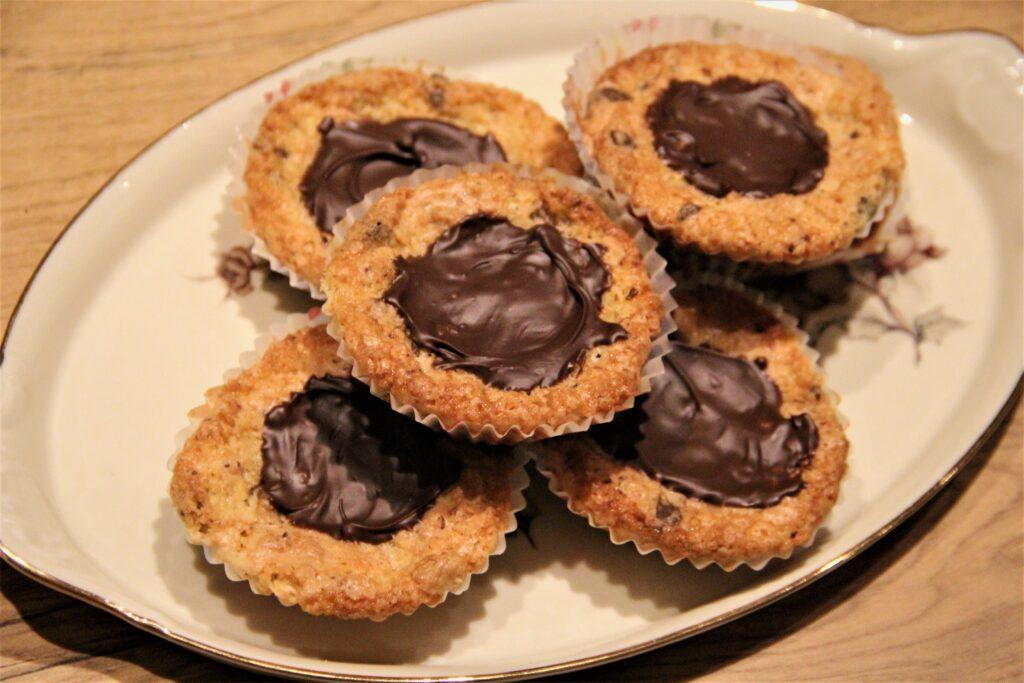 kokuskager med chokolade