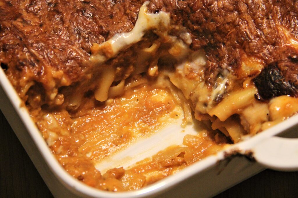 lasagne af plastefars