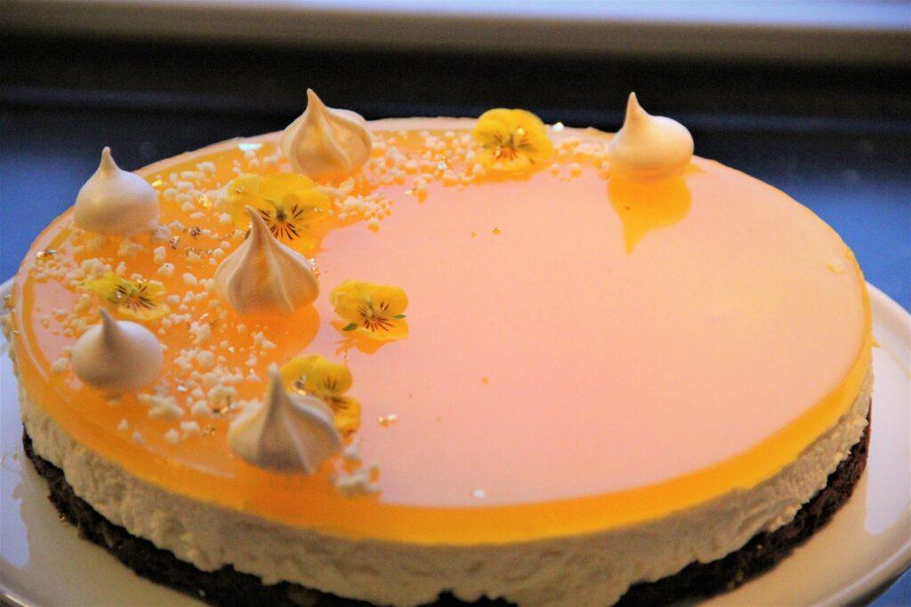 cheesecake med citron og appelsin