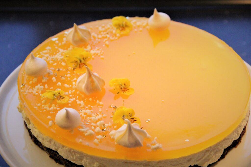 cheesecake med citron og appelsing
