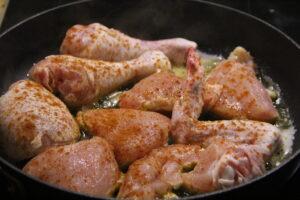 kylling steges i pande