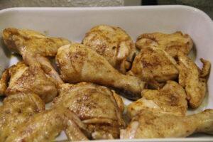 kyllingestykker i ovnfast fad